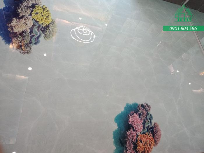 Dự án sàn nhà 3D tại Diamond Lotus Riverside Quận 8, TPHCM