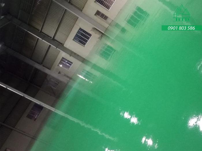 Hoàn thành công trình sơn Epoxy tại KCN Long Hậu