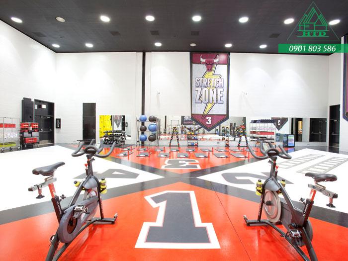 sơn sàn epoxy cho phòng gym