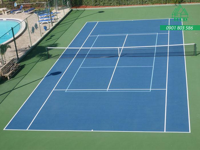 báo giá thi công sơn sân tennis