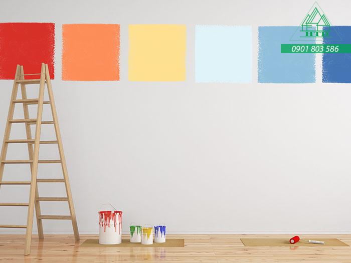 sơn tường hợp phong thủy