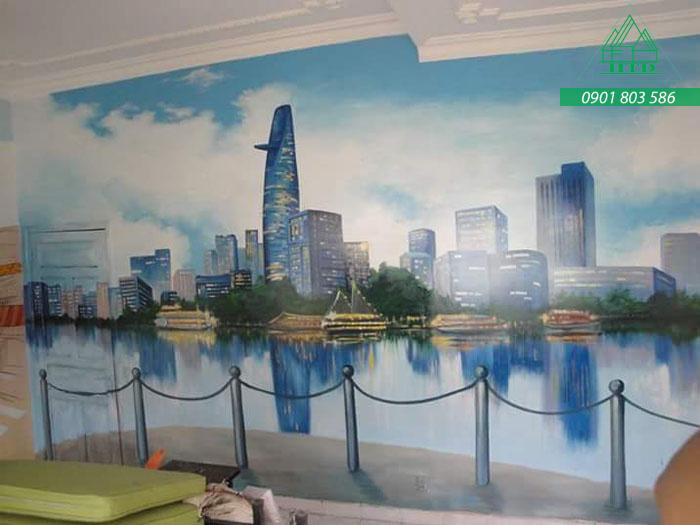 vẽ tranh tường 3d tại tphcm