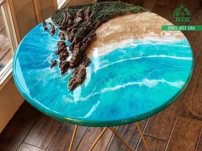 keo epoxy đổ mặt bàn