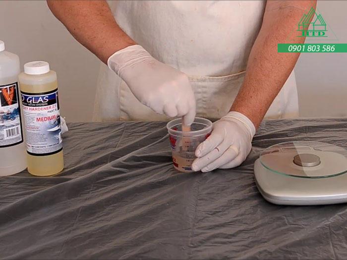 cách pha sơn epoxy